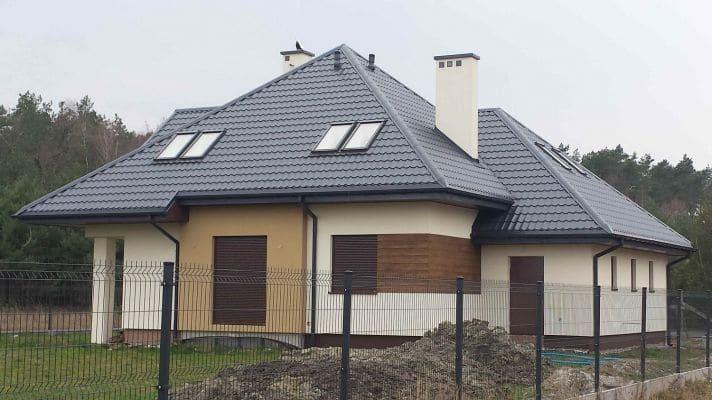 2. Dom jednorodzinny w Nieborowie. Stan deweloperski widok od ogrodu scalia gallery metro - Nasze<br> budowy