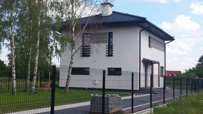 Dom jednorodzinny w m. Żuków gm. Sochaczew widok od frontu scalia gallery metro - Nasze<br> budowy