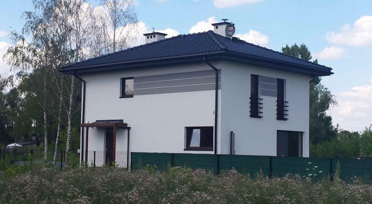 Dom jednorodzinny w m. Żuków gm. Sochaczew widok od ogrodu scalia gallery metro - Nasze<br> budowy