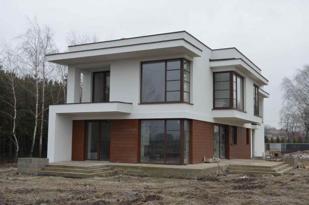 Dom jednorodzinny w m. Pniewo k. Żychlina widok od strony ogrodu scalia gallery metro - Nasze<br> budowy